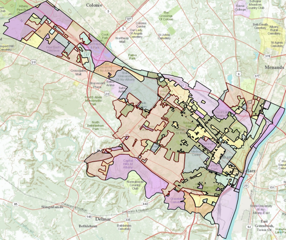 land use and zoning albany map
